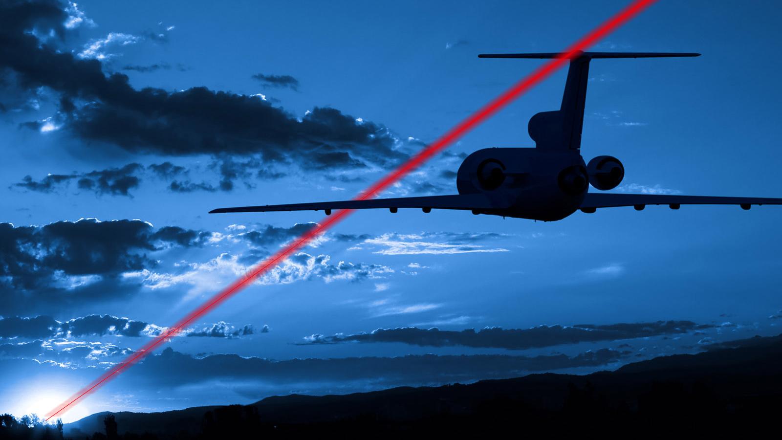 Flugzeug-Laser