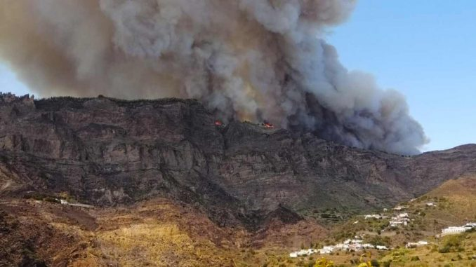 Waldbrand Valleseco Gran Canaria 17.08.2019