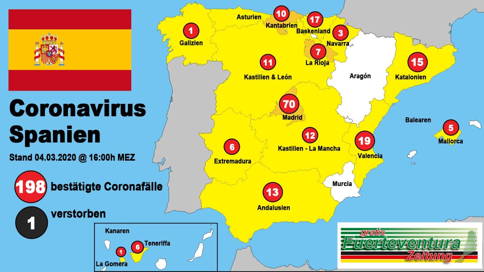 Erster Toter Mit Nicht Aber Durch Coronavirus In Spanien Fuerteventura Zeitung